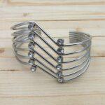pulsera plateado zircones perlas