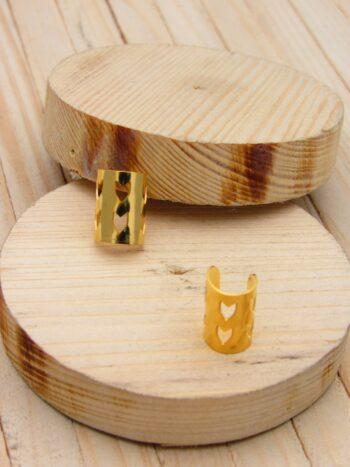 aretes dorado    orejeras