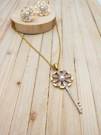 juegos dorado zircones|perlas|resina blanco